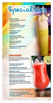 Specialties & Frozen Drinks